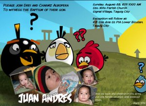 Design 4: Selected Angry Birds with plain Text