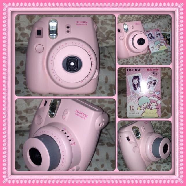 my cute pink camera!
